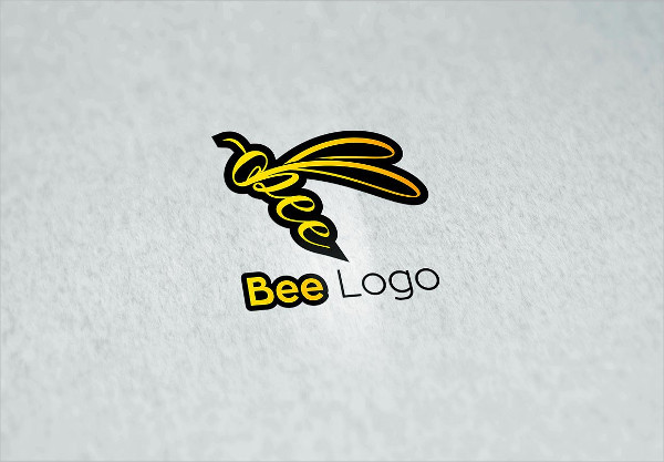 Funny Bee Logo Template