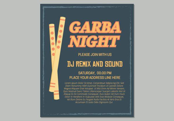 Garba Night Event Free Poster