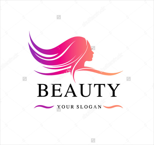 Unique Beauty Salon Vector Logo Template