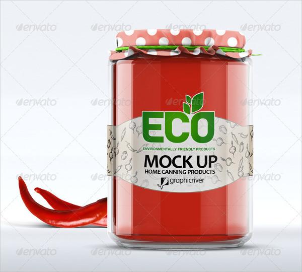 Realistic 3D Glass Jar Mockup
