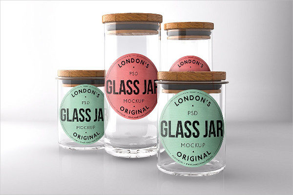 Glass Mason Jar Mockups