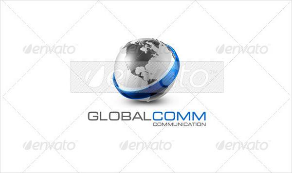 Perfect Global Communication Logo Template
