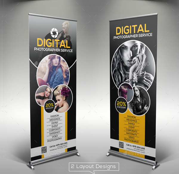 Photography Advertising Rollup Banners