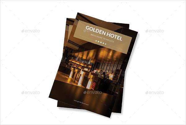 Golden Hotel Agent Brochure Template