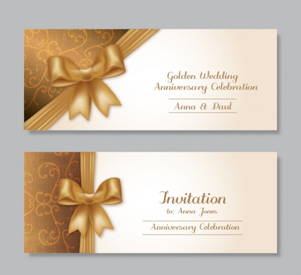Golden Wedding Anniversary Invitation Templates Free