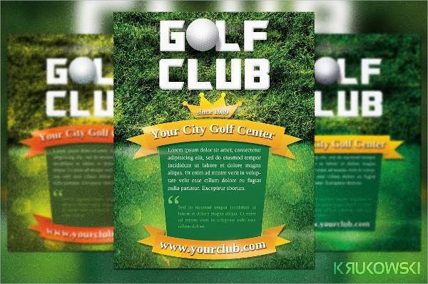 Golf Club Center Flyer Template