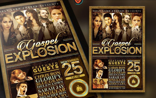 Gospel Explosion Poster & Flyer Template