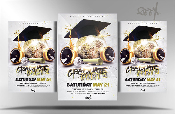 Graduation Party Club Flyer