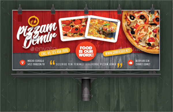 Print Ready Restaurant Billboard Templates