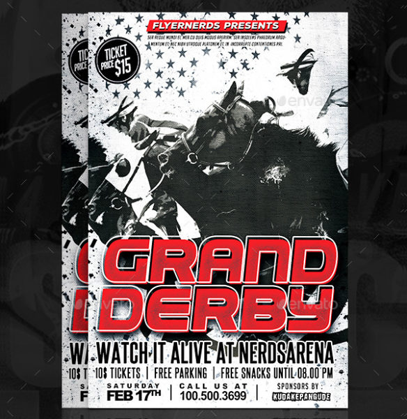 Grand Derby Horse Racing Sports Flyer