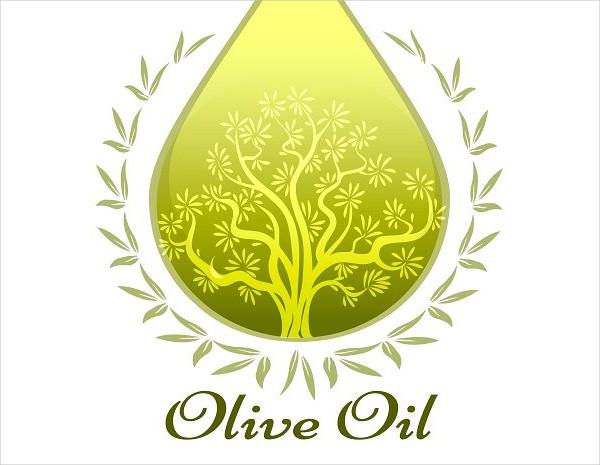 Green Oil Label Template Design