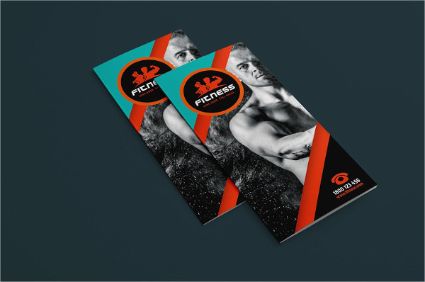 Tri-Fold Fitness or Gym Brochure Template