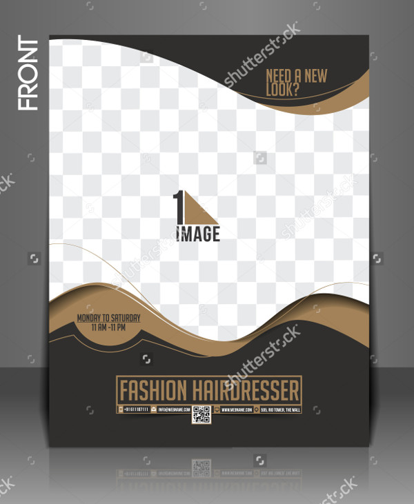 Fashion Hair Dresser Flyer Template