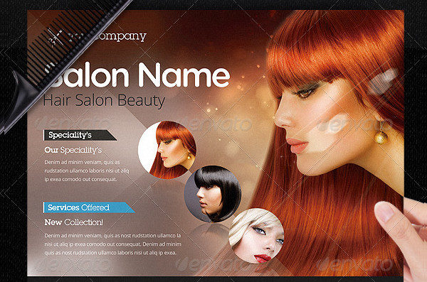 Hair Salon Business Promotional Flyer Template