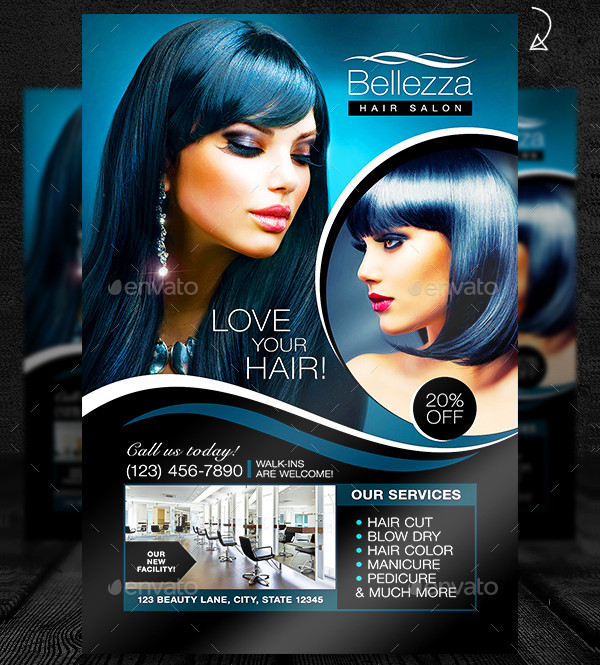 Colorful Hair Salon Grand Opening Flyer