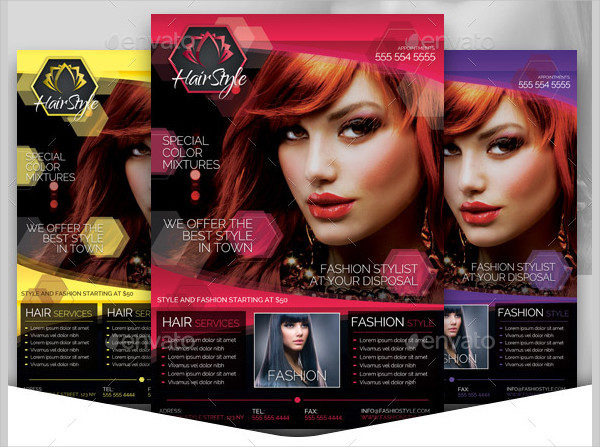 Hair Salon Fashion Style Flyer Template