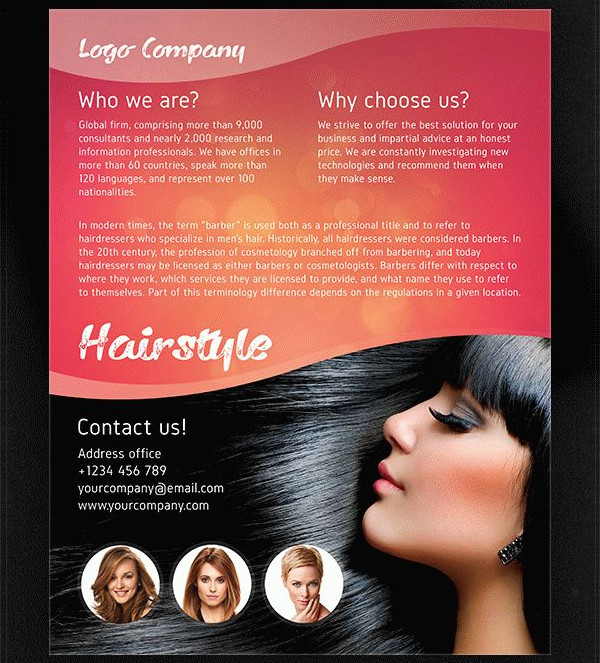 Hair Psd Free Download: 25+ Hair Salon Flyer Templates