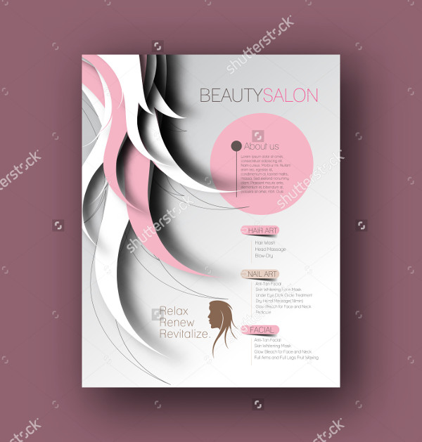 Hair Care Salon Back Flyer Design