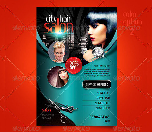 Hair Salon Advertising Flyers