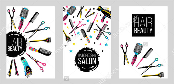 Haircut & Beauty Salons Flyer Template