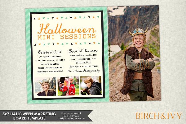 Halloween Marketing Board Postcard