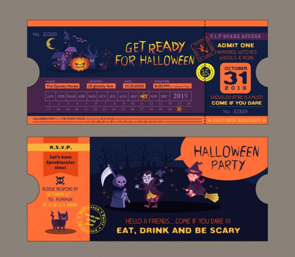 Halloween Party Invitation Design Free