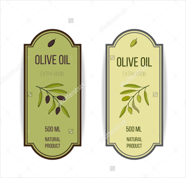 Oil Label Template Hand Drawn Illustration