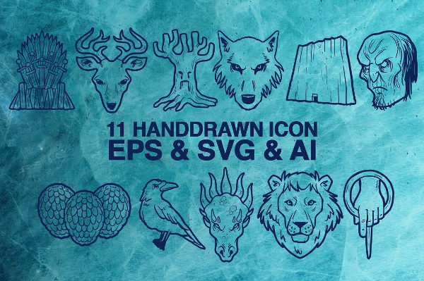 Hand Drawn Game of Icons