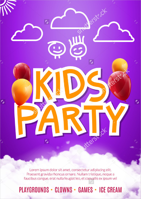 Happy Kids Party Art Flyer Template