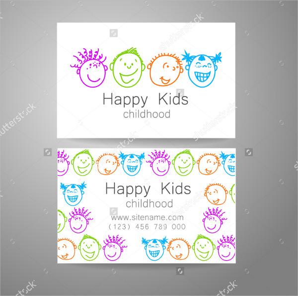 Happy School Kids Business Card
