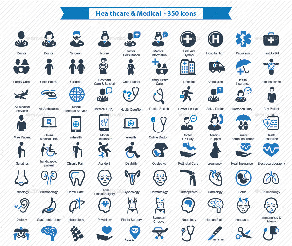 Health Care & Medical Designed Icons
