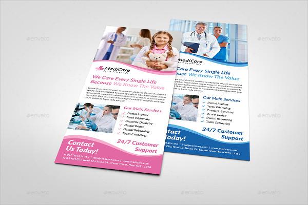 Health Care Rack Card Template