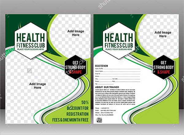 Health Fitness Club Brochure Template