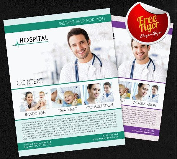 Health Insurance Free PSD Flyer Template