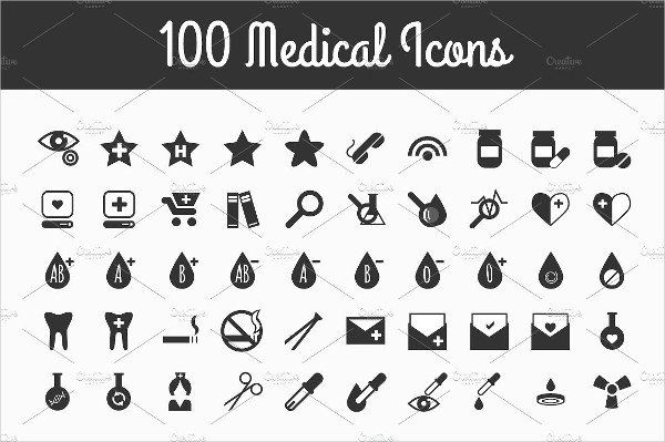 100 Medical Simple Style Icons