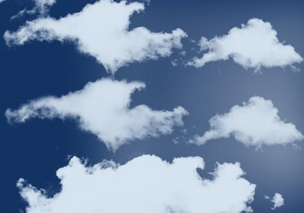 10 Cloud Brush Set Photoshop High Resolution Free