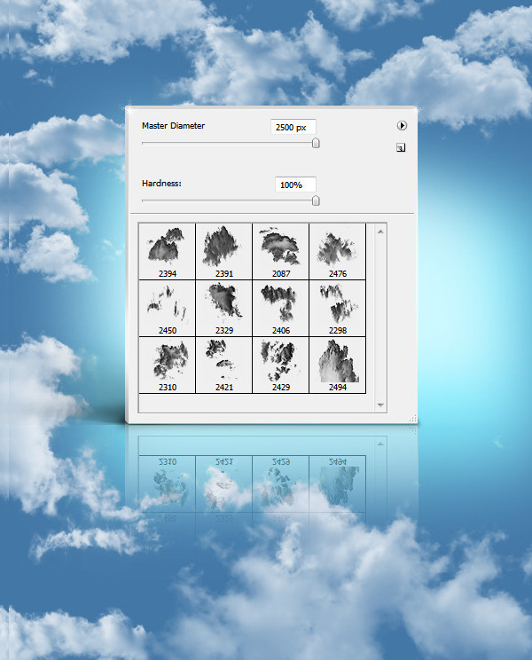 12 High Resolution Clouds Brushes