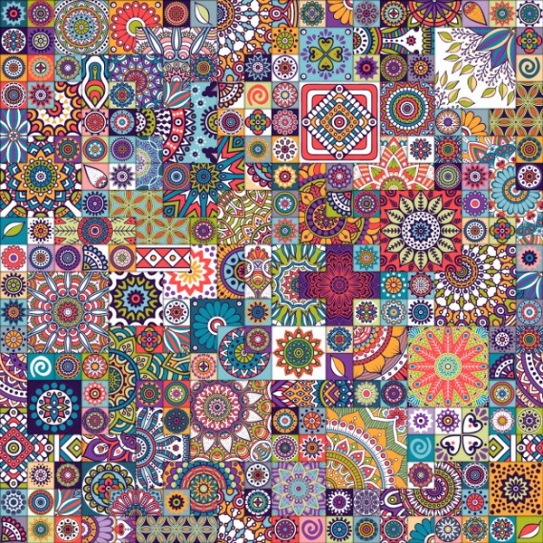 Mosaic background Free Vector