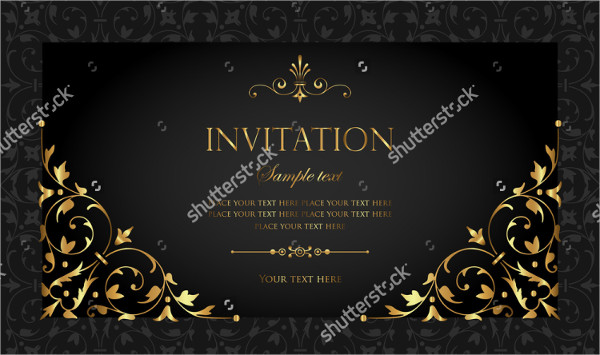 Simple Anniversary Invitation Card Template