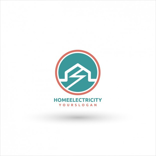 Free Home Electricity Logo Template