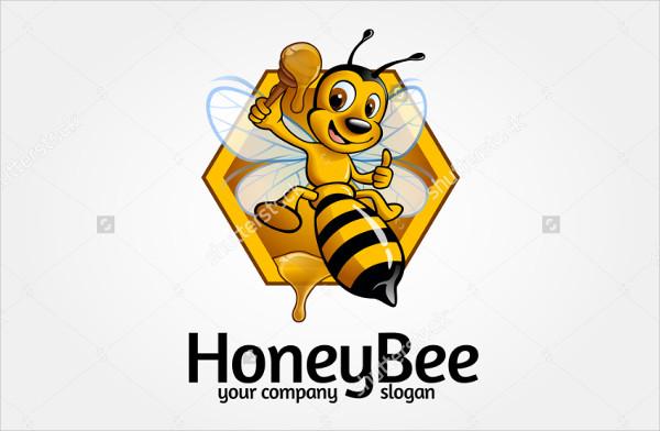 Cartoon Bee Logo Template