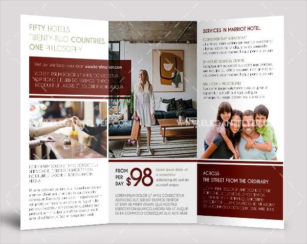 Hotel Free PSD Tri-Fold Brochure Template