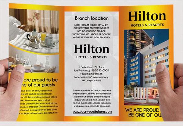 Hotel & Motel Free PSD Brochure Template