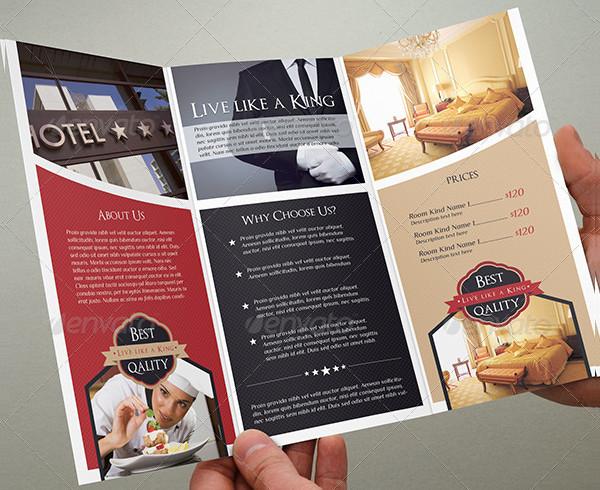 Creative Design Hotel Tri-Fold Brochure Template