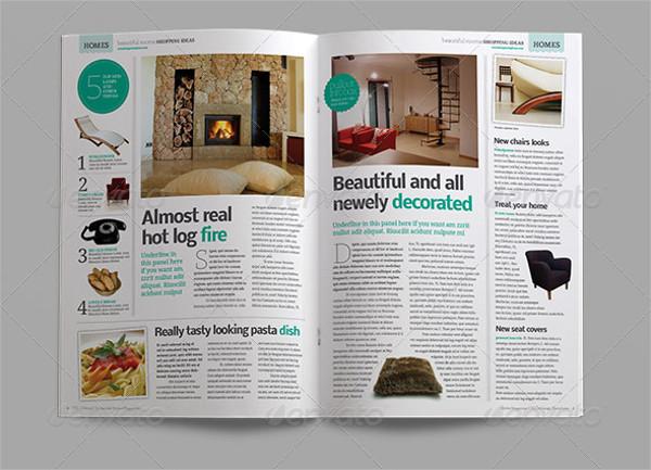 Interior Design Lifestyle Magazine Template