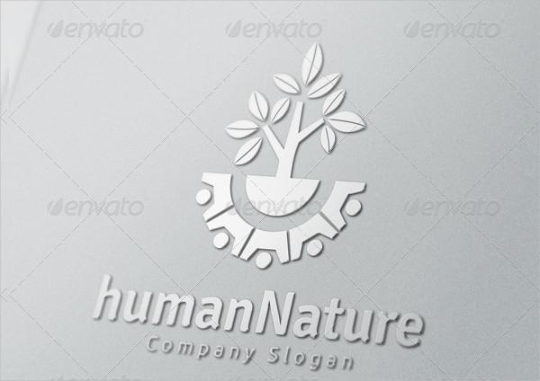 Human Nature Logo Design