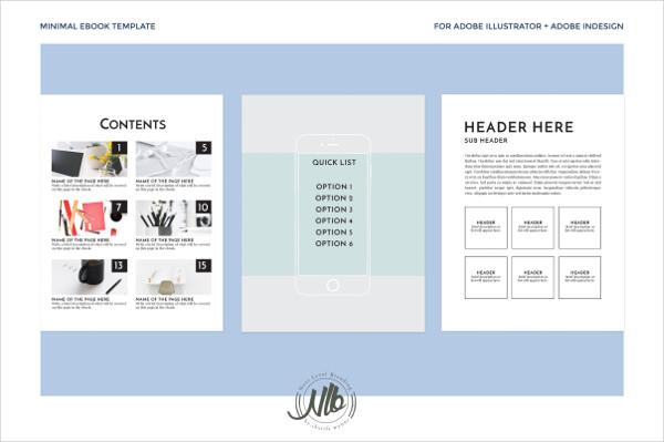 Minimal Ebook Template Illustrator