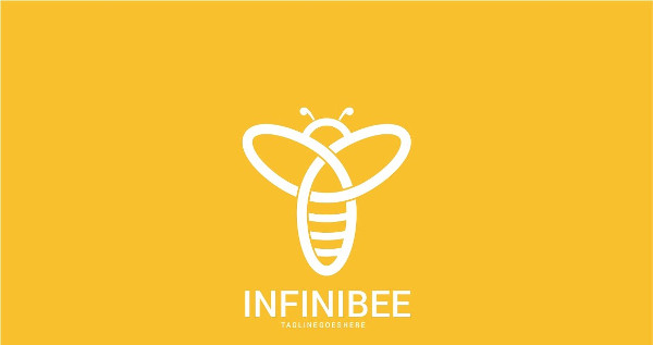 Infinity Bees Logo Template Design