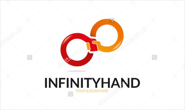 Infinity Hand Logo Template