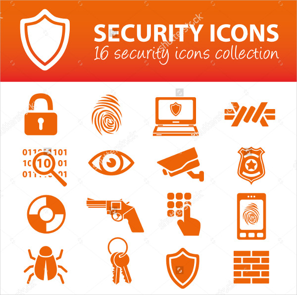 16 Security Icons Collection
